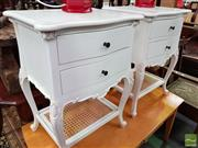 Sale 8469 - Lot 1091 - Pair of Painted Bedsides