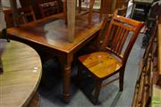 Sale 8550 - Lot 1532 - Timber Seven Piece Dining Setting incl. Table & Six Chairs