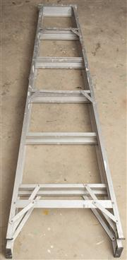 Sale 8575H - Lot 103 - A metal work ladder and two others