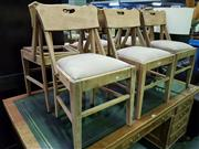 Sale 8648 - Lot 1018 - Set of Six Dining Chairs (one missing seat)