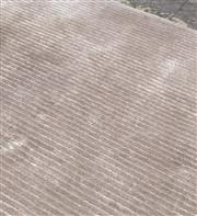 Sale 8709 - Lot 1098 - A large woollen ridged soft grey floor rug, approx 540cm x 420cm