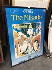 Sale 8807 - Lot 2095 - Framed Poster of The Mikado from the Sydney Opera House, 1980s