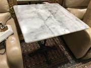Sale 8851 - Lot 1097 - Marble Top Table on Cast Iron Base