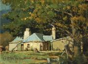 Sale 8938 - Lot 573 - Robert Eagar Taylor-Ghee (1869 - 1951) - A Country Cottage 17 x 23 cm