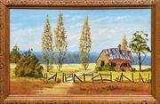Sale 9036 - Lot 2090 - Vera Spicer Blot on the Landscape, acrylic on board, frame: 53 x 84 cm, signed lower right,