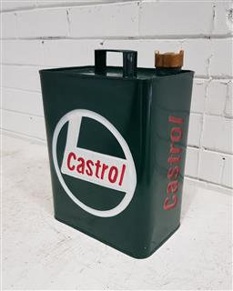 Sale 9121 - Lot 1095 - Castrol fuel can with brass lid