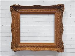 Sale 9142 - Lot 1047 - Antique Gilt Gesso Painting Frame, with articulated corners - some losses (100 x 110cm, internal almost 66 x 80 cm)