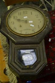 Sale 8031 - Lot 1034 - Japanese Timber Cased Wall Clock