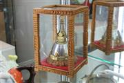 Sale 8339 - Lot 84 - Tibetan Bell in Glass & Timber Case