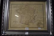 Sale 8346 - Lot 2039 - Engraved 1789 Map France Hand Coloured