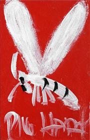 Sale 8459 - Lot 564 - Kevin Charles (Pro) Hart (1928 - 2006) - Dragonfly 13 x 9cm