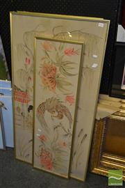 Sale 8503 - Lot 2082 - Framed Oriental Prints x 3