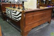Sale 8550 - Lot 1502 - Timber Sleigh Bed