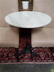 Sale 8566 - Lot 1305 - White Marble Top Table, Waterproofed (60)