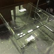 Sale 8643 - Lot 1080 - Curved Acrylic & Glass Top Coffee Table