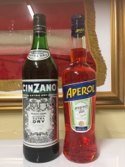 Sale 8677B - Lot 984 - A bottle of Cinzano and Aperol