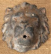 Sale 8984H - Lot 401 - A wall mount fountain head in the form of a lion mask. Height 14cm