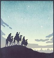 Sale 9078A - Lot 5091 - John Hall Thorpe (1874-1947) - The Wise Men 20.5 x 19.5 cm (sheet: 29.5 x 27.5 cm)