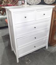 Sale 9071 - Lot 1085 - Painted Chest of 5 Drawers (h:95 x w:80 x d:40cm)