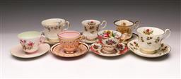 Sale 9119 - Lot 66 - A collection of ceramic duos inc Shelley, Royal Albert and others