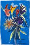 Sale 7800 - Lot 14 - CHARLES BLACKMAN (born 1928) - The Melbourne Cup Bouquet 1989 colour lithograph, edition: 7/90