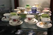 Sale 8081 - Lot 88 - Grosvenor Trio with Other Cup Sets incl Queen Anne
