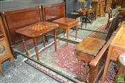 Sale 8255 - Lot 1018 - Pair of Mahogany Single Beds, with turned columns, iron rails and timber slat base