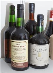 Sale 8486A - Lot 80 - 4 x bottles of port including; Yalumba Clock Tower, Stanley Pendy Port, 1979 Hoffmans Vintage Port & a Paramatta District Rugby Leag...