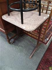 Sale 8566 - Lot 1564 - Metal Framed Table With Granite Top