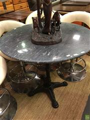 Sale 8566 - Lot 1370 - Black marble Top Table, Waterproofed (80)