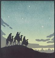 Sale 9078A - Lot 5092 - John Hall Thorpe (1874-1947) - The Wise Men 20.5 x 19.5 cm (sheet: 29.5 x 27.5 cm)