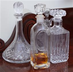 Sale 9190H - Lot 219 - A group of four decanters including Bohemian, tallest Height 29cm