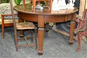 Sale 7987A - Lot 1271 - Circular Dining Table Raised on Castors