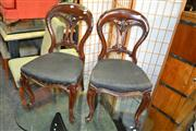Sale 8093 - Lot 1757 - Pair of Victorian Mahogany Dining Chairs