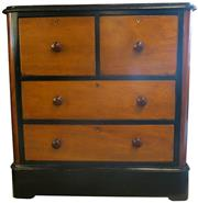 Sale 8258A - Lot 72 - Late Victorian cedar chest of four drawers, RRP $1500, W92 x 47 x 95cm