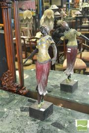 Sale 8337 - Lot 1006 - Metal Figure of a Dancing Lady