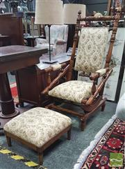 Sale 8404 - Lot 1018 - Dexter Rocker & Matching Foot Stool