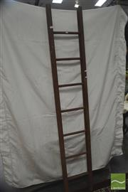 Sale 8406 - Lot 1143 - Rustic Timber Ladder