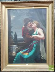 Sale 8416 - Lot 1072 - Early 20th Century Painting Romeo & Juliet, oil on canvas, in gilt gesso frame, canvas 100 x 70 cm