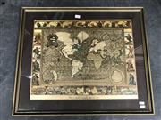 Sale 9050 - Lot 2045 - An illuminated Map print on glass After Moses Pitt 1681. -