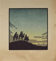 Sale 9078A - Lot 5093 - John Hall Thorpe (1874-1947) - The Wise Men 20.5 x 19.5 cm (sheet: 29.5 x 27.5 cm)