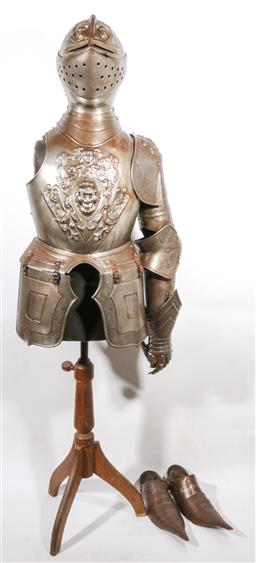 Sale 9098 - Lot 378 - Reproduction Knights Armour (Length of Body 100cm)