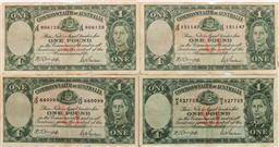 Sale 9175 - Lot 27 - A Set of Four Commonwealth of Australian One Pound Notes