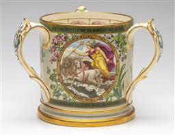 Sale 9211 - Lot 13 - An Early Copeland Ceramic Love Cup (H:14cm)