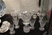 Sale 8024 - Lot 73 - Collection of Crystal Wares incl. Vases, Inwald Glasses, etc