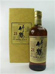 Sale 8329 - Lot 560 - 1x Nikka Whisky 21YO The Taketsuru Distillery Pure Malt Japanese Whisky - in box