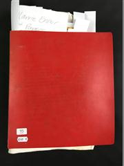 Sale 8539M - Lot 95 - Keith Absons Magic Scrapbook, book no. 19. Compiled May 1983. Includes a greater quantity of Harrie Ensor handwritten papers c. 1...
