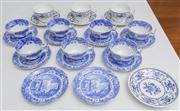 Sale 8595A - Lot 73 - A quantity of Spode 'Italian Garden' tea bowls and saucers, together with associated cups and saucers