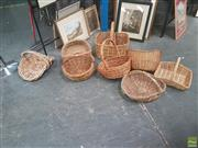Sale 8620 - Lot 1069 - Collection of Eight Wicker Baskets