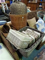 Sale 8657 - Lot 1096 - Collection of Various Wicker Baskets